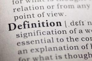 Définition du mot definition dans un dictionnaire.
